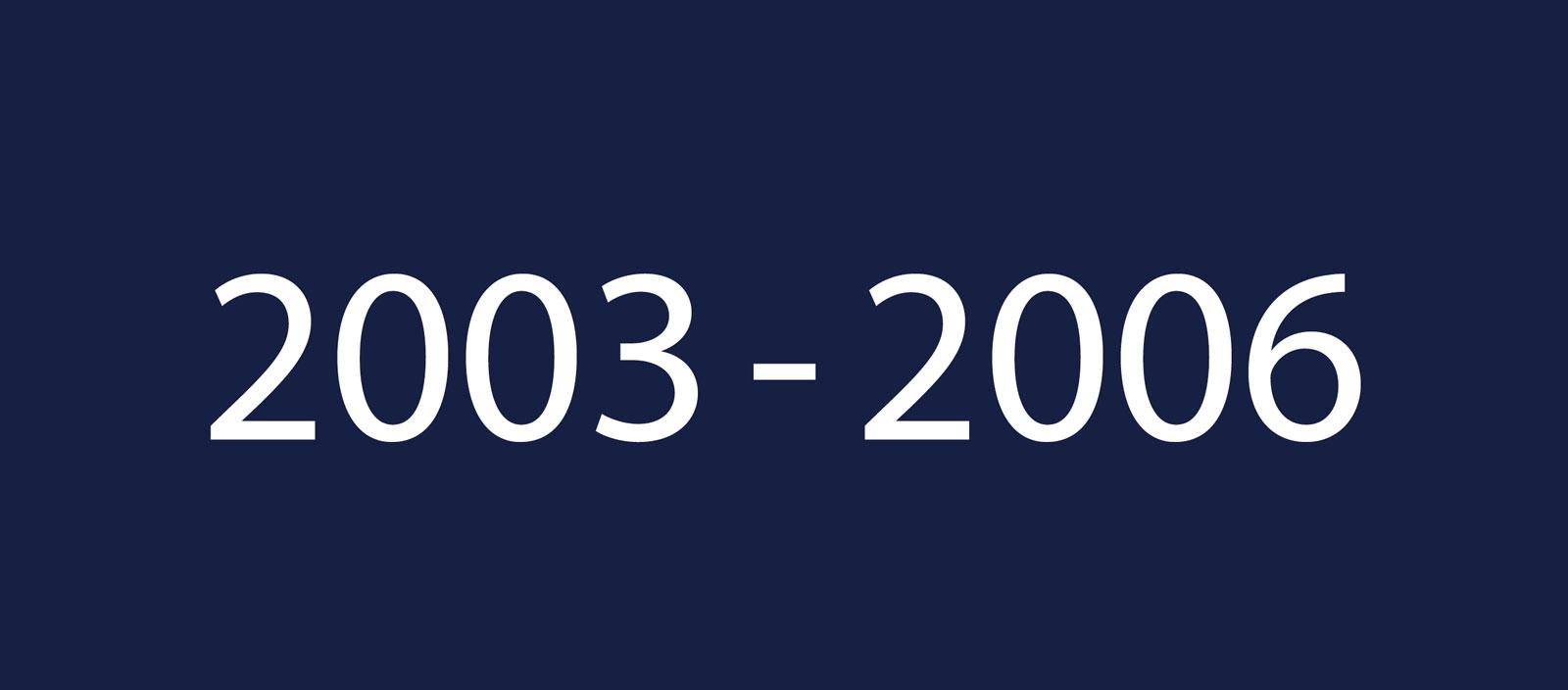 2003 2006 1