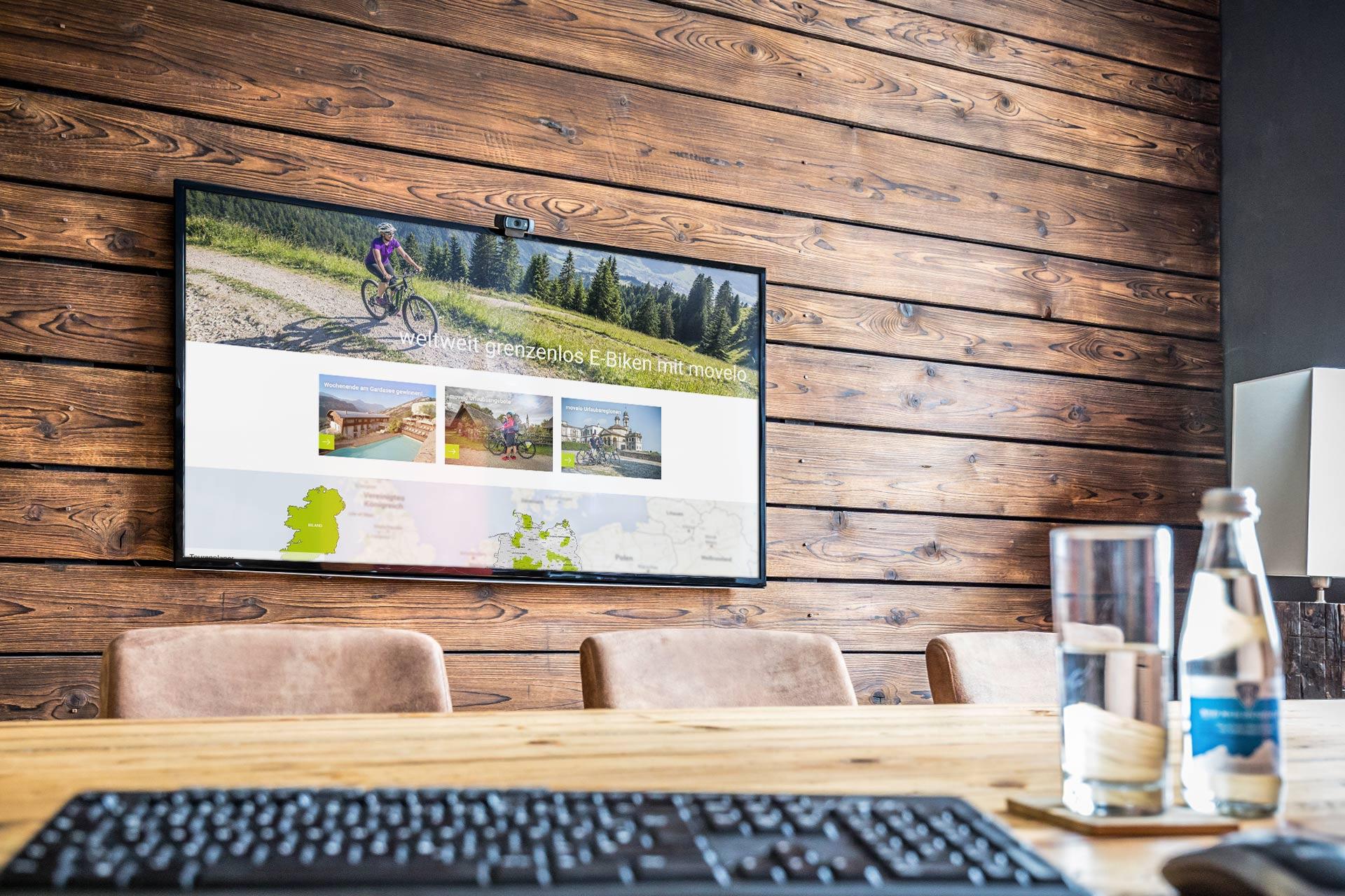 Movelo Website Bildschirm
