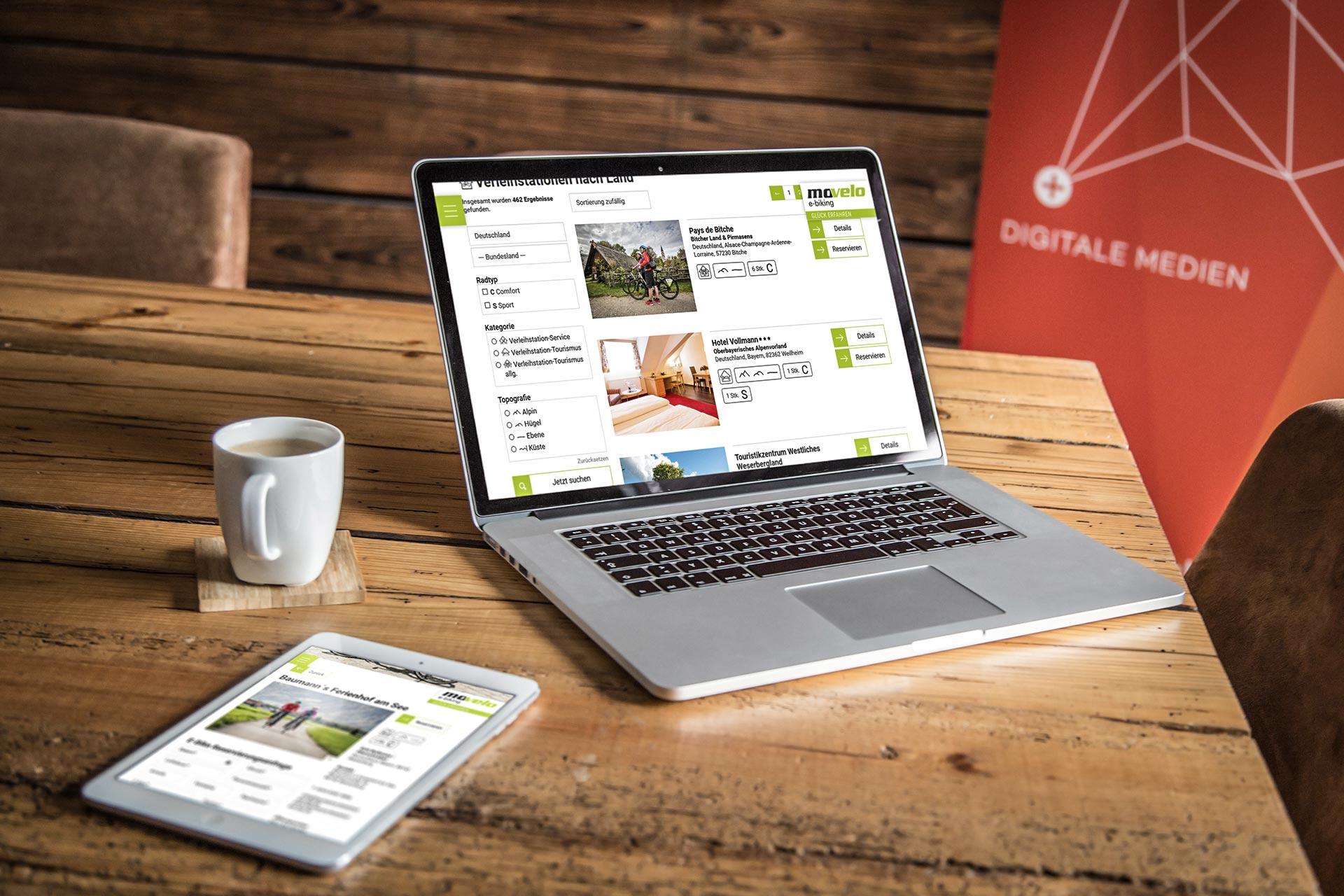 Movelo Website Laptop Tablet