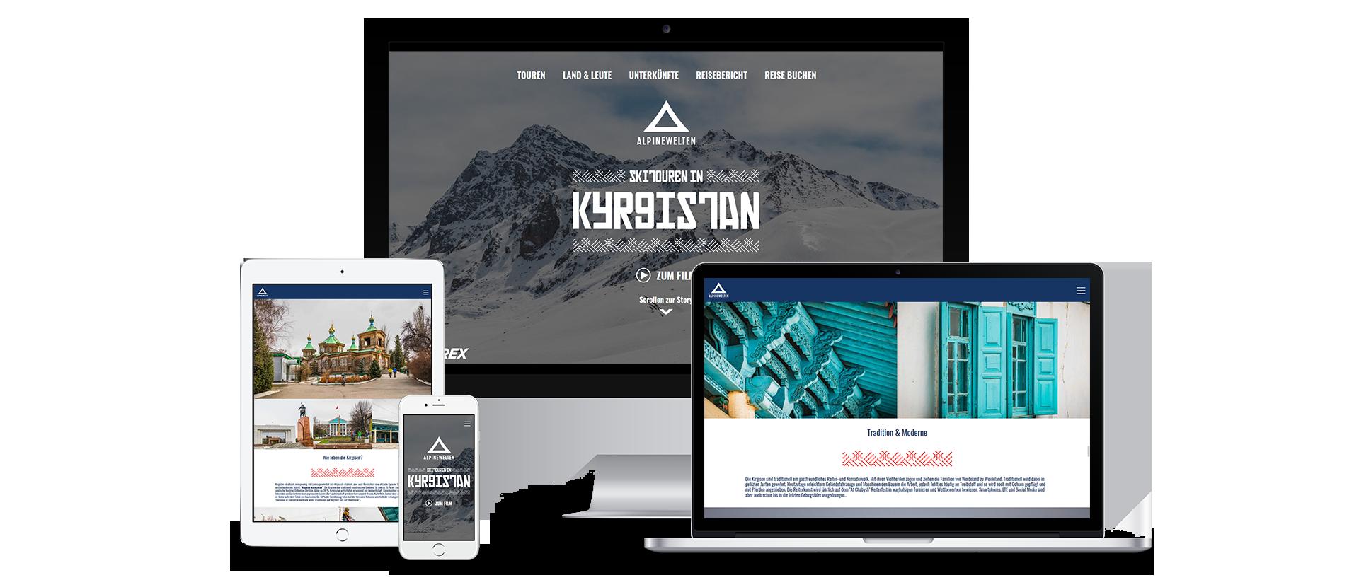 Alpine Welten Kirgistan Mockup