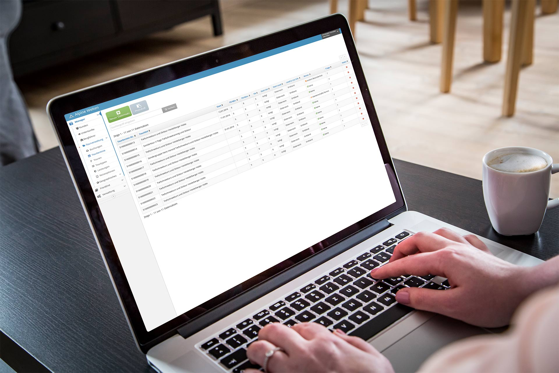 Bi Alpine Welten Buchungsverwaltung Laptop