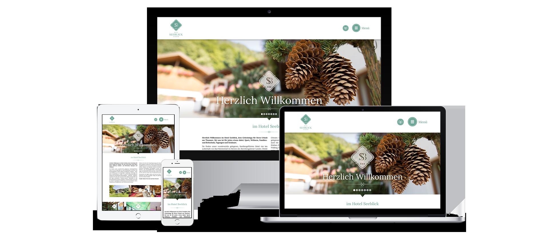 Hotel Seeblick Website Übersicht Devices