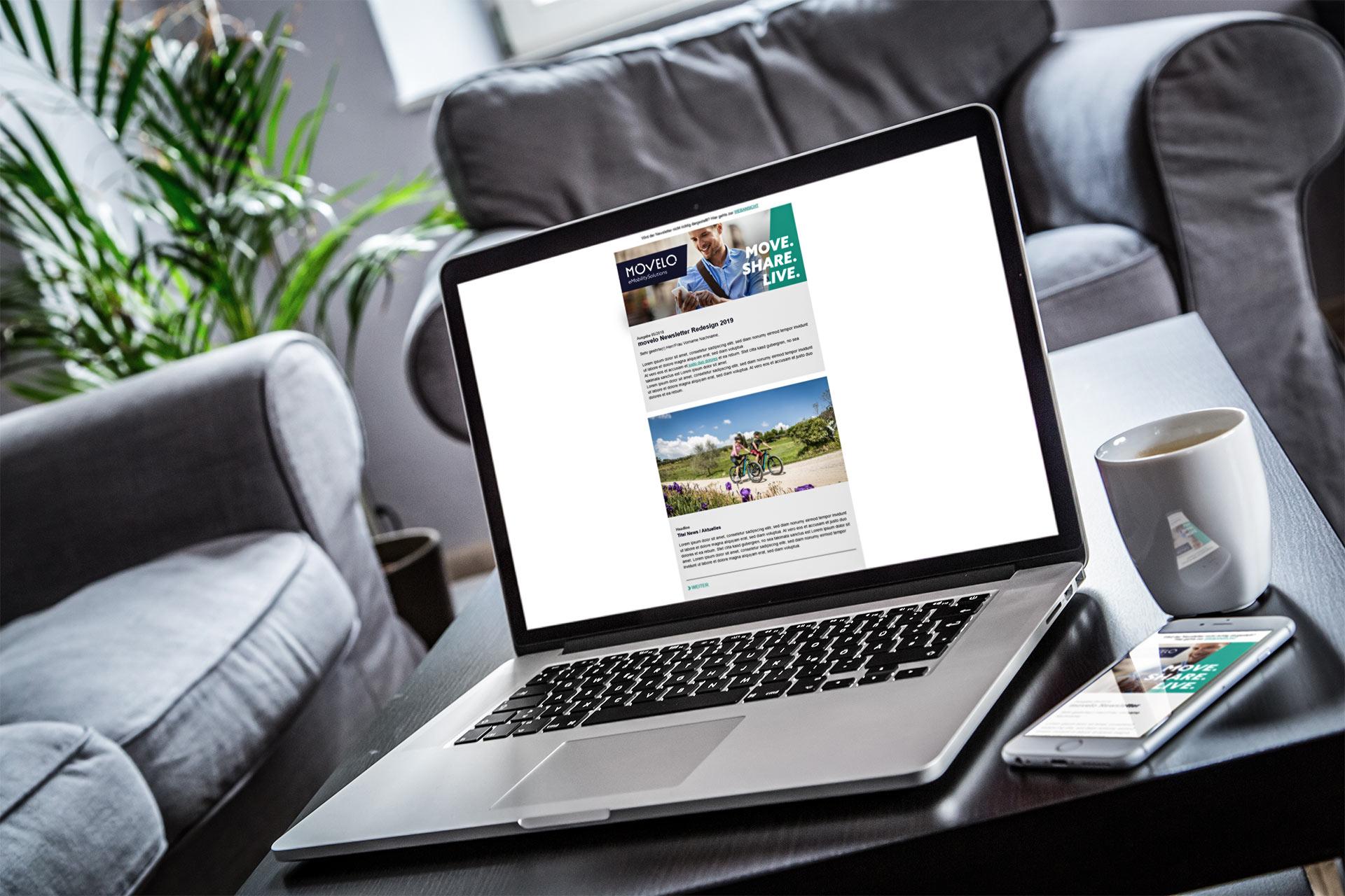 Movelo Newsletter Laptop Handy